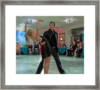 Ballroom Dancers Framed Print by Valerie Garner