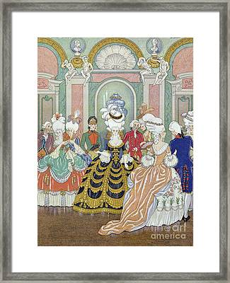 Ballroom Scene Framed Print by Georges Barbier