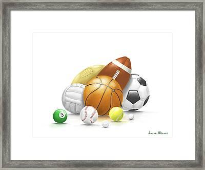 Balls Framed Print by Veronica Minozzi