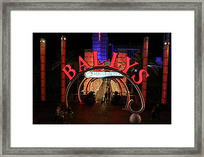 Ballys Hotel And Casion - Las Vegas Framed Print by Jon Berghoff