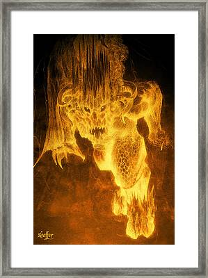 Balrog Of Morgoth Framed Print by Curtiss Shaffer