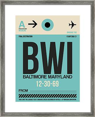 Baltimore Airport Poster 1 Framed Print by Naxart Studio