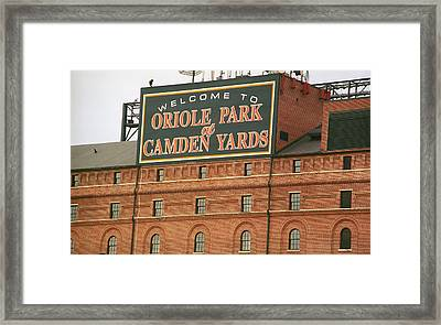 Baltimore Orioles Park At Camden Yards Framed Print by Frank Romeo