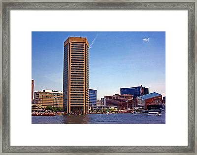 Baltimore World Trade Center Framed Print by Andy Lawless