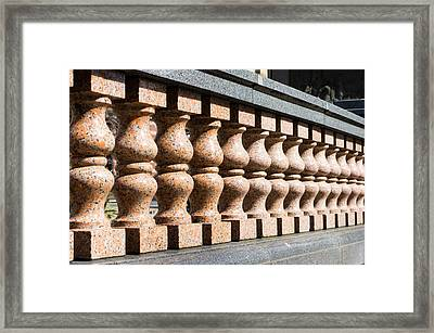 Balustrade Wall Framed Print by Tom Gowanlock