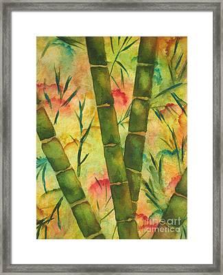 Bamboo Garden Framed Print by Chrisann Ellis