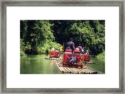 Bamboo River Rafting Framed Print by Melanie Lankford Photography