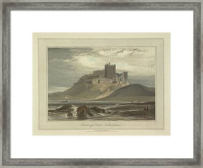 Bamborough Castle Framed Print by British Library