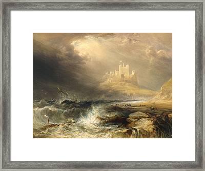 Bamborough Castle Framed Print by William Andrews Nesfield