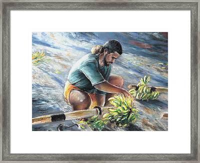 Banana Carryer In Tahiti 02 Framed Print by Miki De Goodaboom