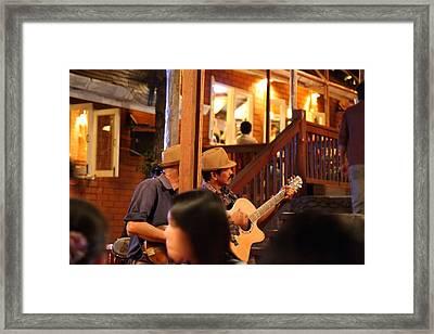 Band At Palaad Tawanron Restaurant - Chiang Mai Thailand - 01131 Framed Print by DC Photographer