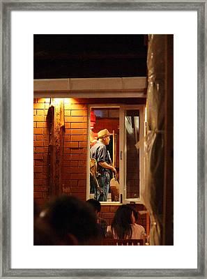 Band At Palaad Tawanron Restaurant - Chiang Mai Thailand - 01138 Framed Print by DC Photographer