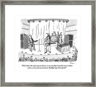Band On Stage Framed Print by Zachary Kanin