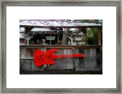 Band Parking Framed Print by Kathy Peltomaa Lewis