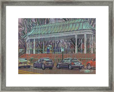 Band Stand Framed Print by Donald Maier