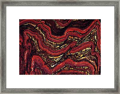 Banded Ironstone Formation (bif) Framed Print by Dirk Wiersma