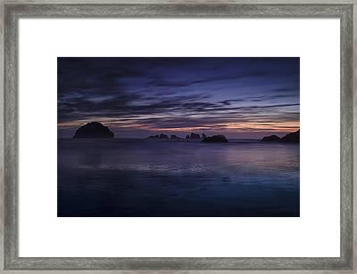 Bandon Beach At Twilight Framed Print by Andrew Soundarajan