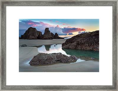 Bandon By The Sea Framed Print by Robert Bynum