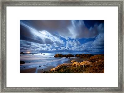 Bandon Nightlife Framed Print by Darren  White