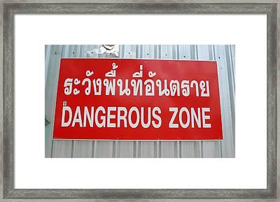 Bangkok Dangerous Zone Framed Print by Gregory Smith