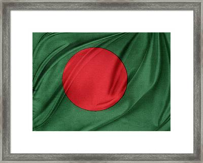 Bangladesh Flag Framed Print by Les Cunliffe