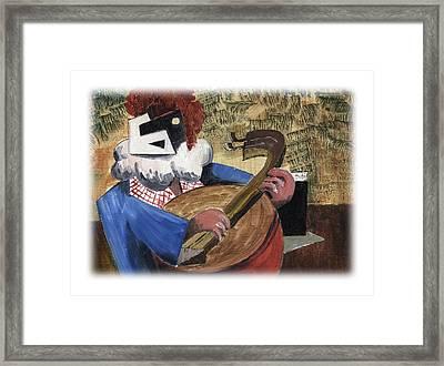 Banjo Bill Framed Print by Val Byrne