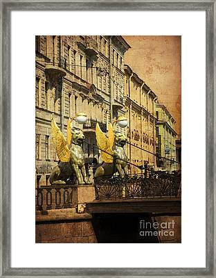 Bank Bridge Framed Print by Elena Nosyreva