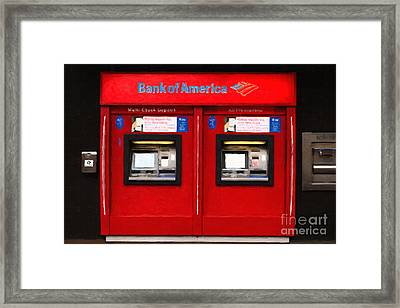 Bank Of America Automated Teller Machine - Painterly - 5d20737 Framed Print by Wingsdomain Art and Photography