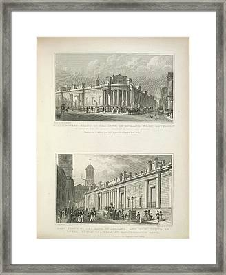 Bank Of England And Royal Exchange Framed Print by British Library