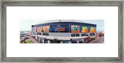 Bank One Ballpark Phoenix Az Framed Print by Panoramic Images