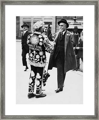 Banker Pleads Poverty Framed Print by Underwood Archives