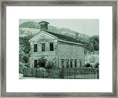 Bannack Masonic Hall With Toning Framed Print by Kae Cheatham