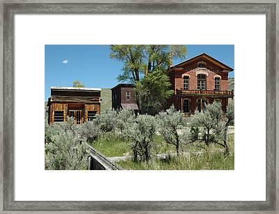 Bannack Montana's Hotel Meade Framed Print by Bruce Gourley