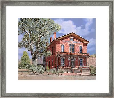 Bannock-montana-hotel Meade Framed Print by Guido Borelli