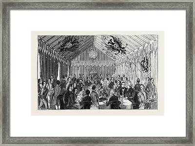 Banquet In The Imperial Pavilion Framed Print by English School