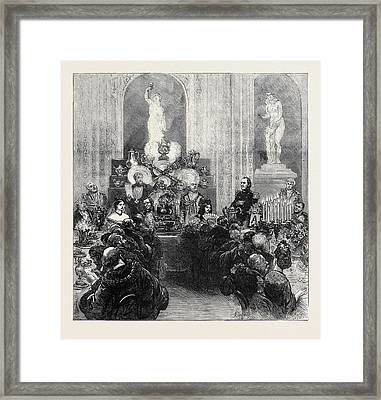 Banquet Of The Mayors At The Mansion House 1873 Framed Print by English School