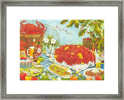 Banquet On The Bayou Framed Print by Joyce Hensley