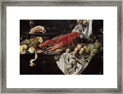 Banquet Still Life, 1644, By Adriaen Van Utrecht 1599-165152 Framed Print by Bridgeman Images