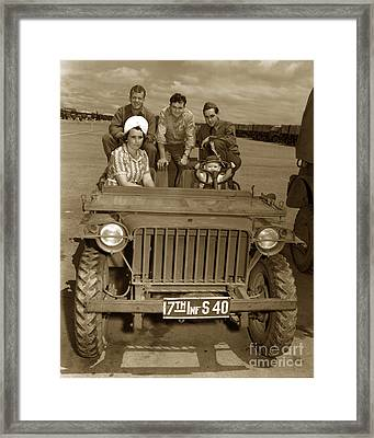 Bantam Jeep 17th Infantry Fort Ord Army Base 1950 Framed Print by California Views Mr Pat Hathaway Archives