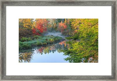 Bantam River Autumn Framed Print by Bill Wakeley