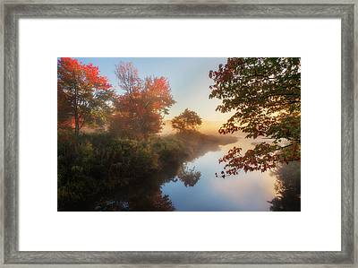 Bantam River Sunrise Framed Print by Bill Wakeley