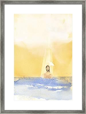 Baptism Framed Print by John Meng-Frecker