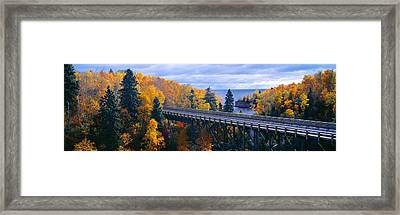Baptism River Into Lake Superior Framed Print by Panoramic Images