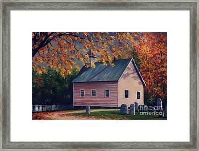 Baptist Church  Cades Cove Framed Print by John Clark