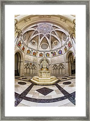 Baptistry At Saint John The Divine Cathedral Framed Print by Susan Candelario