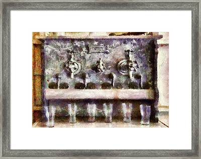 Bar - For A Real Jerk Framed Print by Mike Savad