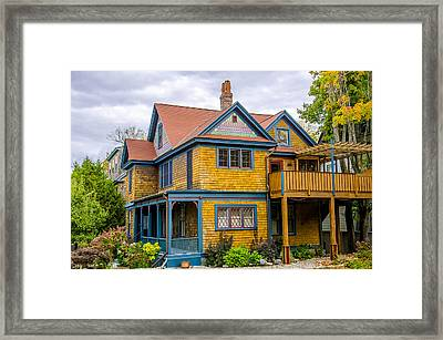 Bar Harbor Colors And Comfort Framed Print by Julie Palencia