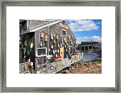 Bar Harbor Restaurant Framed Print by Betty LaRue