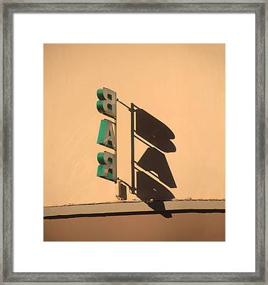 Bar Signs Of Life Framed Print by A Rey