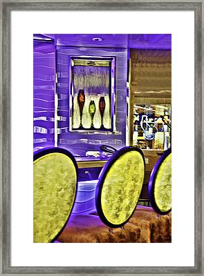 Bar Stools Framed Print by Maria Coulson